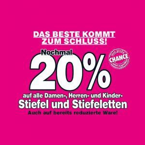 action 20% Siemes Schuhcenter