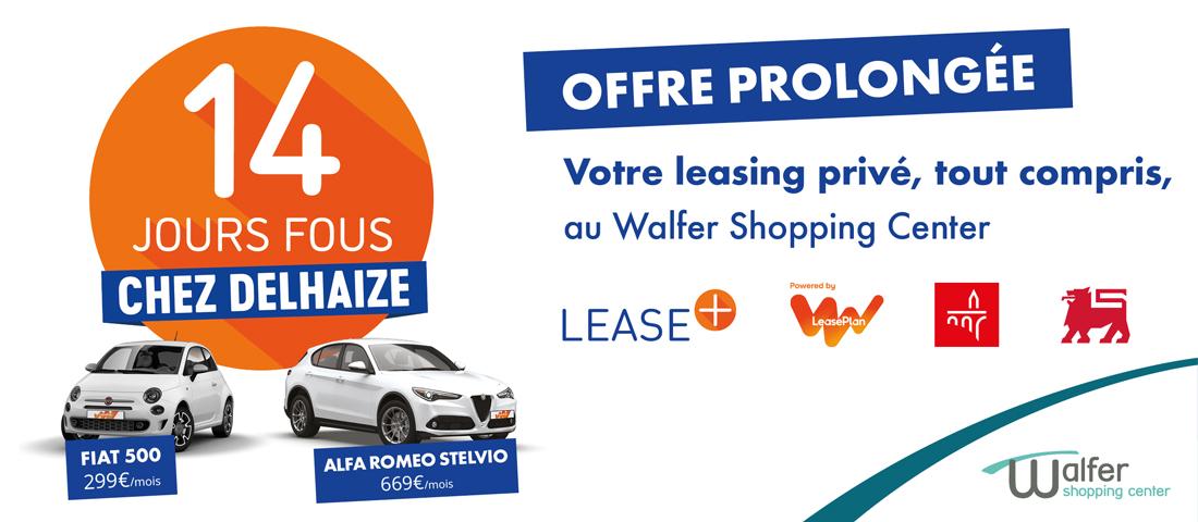 Delhaize Lease Plan offre leasing privé