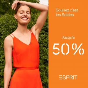 Jusqu'à -50% chez Esprit !