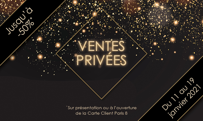 Ventes privées chez Paris 8 : -50% !