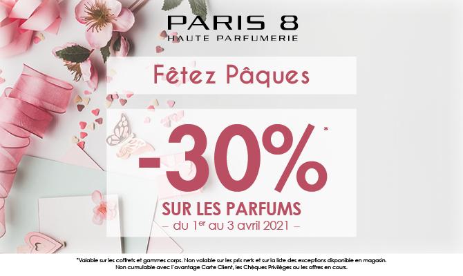 Fêtez Pâques avec Paris 8 : -30% !
